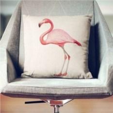 Декоративная наволочка Розовый фламинго