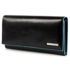 Женское черное портмоне Piquadro Blue Square