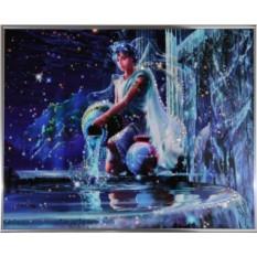 Картина с кристаллами Сваровски Водолей Кагая