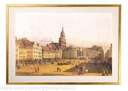 Картина из песка Городская площадь