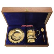 Позолоченный чайный набор Кабаны