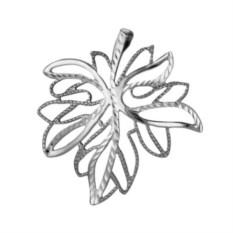 Подвеска из серебра в виде кленового листа