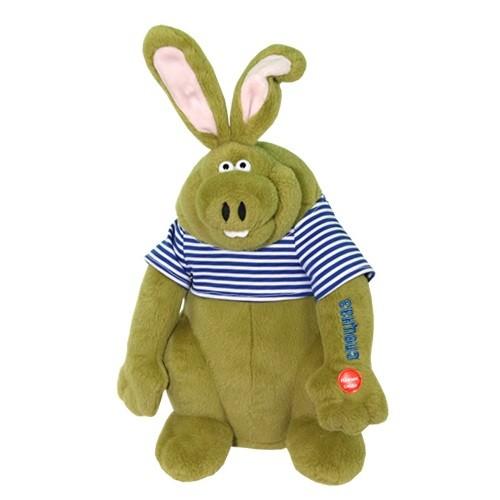 Мягкая игрушка Поющий заяц ушастый спецназ