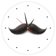 Мужественные часы Усы на стену