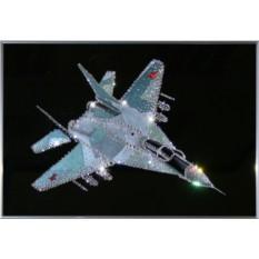 Картина с кристаллами Сваровски Военный истребитель