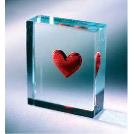 Стеклянная табличка «Прими мое сердце...»