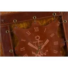 Часы из кожи Якорь и подзорные трубы (коричневый)