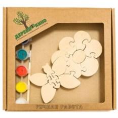 Развивающая игрушка Цветок с бабочкой с красками