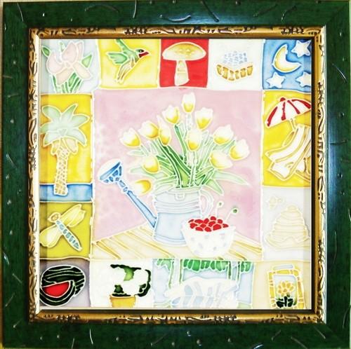 Фарфоровая картина Натюрморт с лейкой