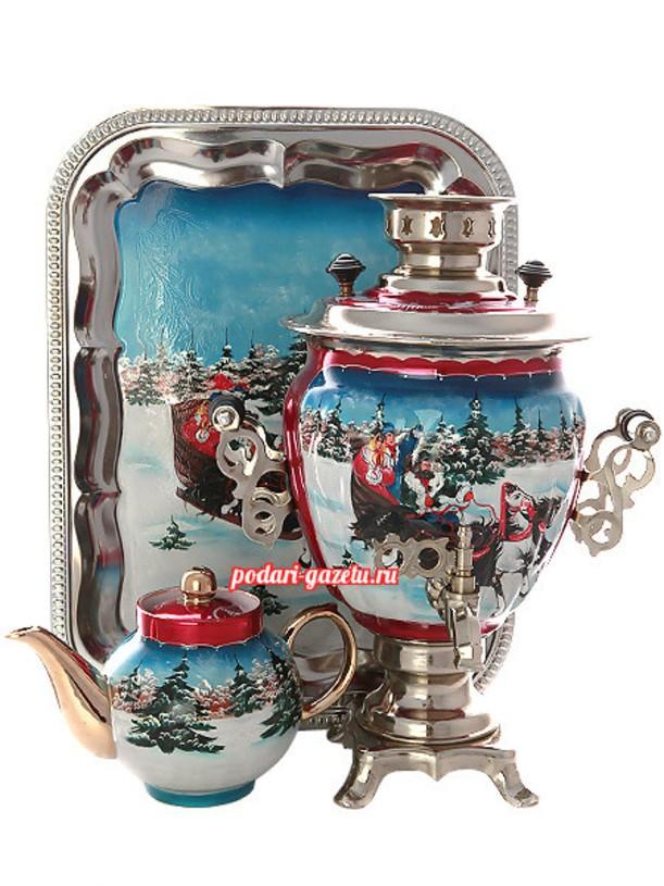 Набор для чаепития Тройка зимняя