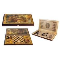 Настольная игра шашки и нарды Баталия