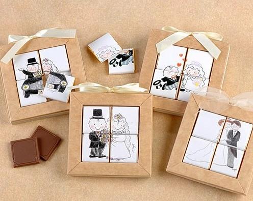 Набор шоколадных плиток Пазл с вашей фотографией