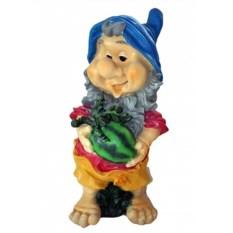 Садовая фигура Гном с арбузом
