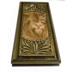 Резные нарды Лев (54х25 см)