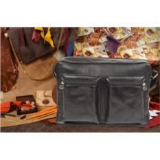 Черная кожаная сумка коллекции Gianni Conti