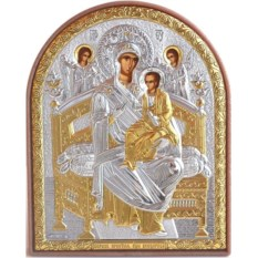 Маленькая серебряная икона Божьей Матери Всецарица