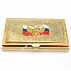 Позолоченная визитница Россия