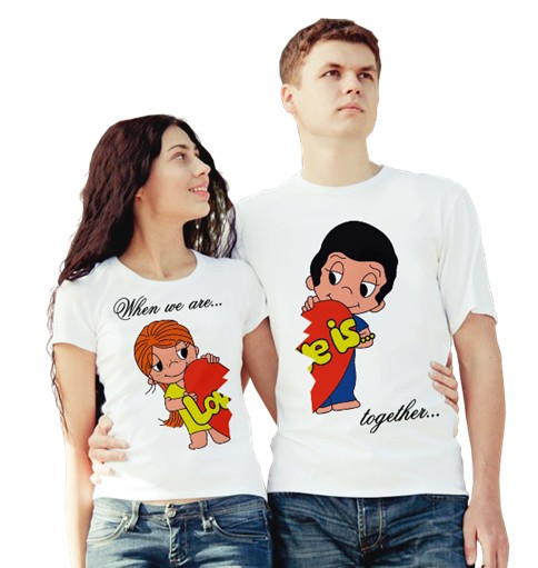 Парные футболки Love is, together forever