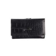 Женский черный кожаный кошелек Barkli