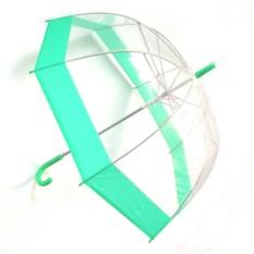 Прозрачный зонт-купол, зеленый