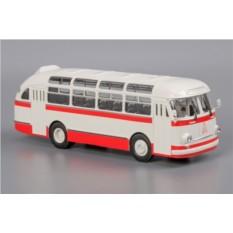 Модель автобуса ЛАЗ-695Е (бело-красный)