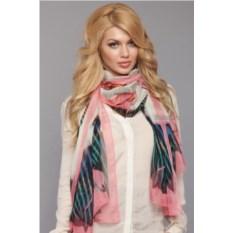 Кремово-розовый женский палантин Fiona Fantozzi