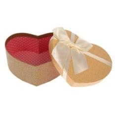 Бежевая подарочная коробка Сердце