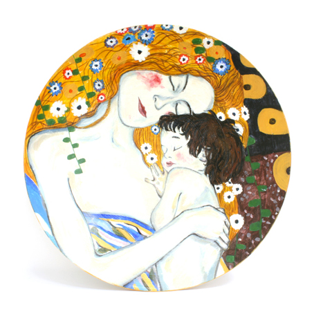 Декоративная тарелка «Три возраста женщины», Климт