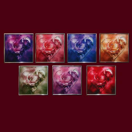 Картина с кристаллами Сваровски Сердечки