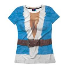 Женская футболка 3D с полной запечаткой Костюм Снегурочки