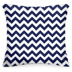 Декоративная подушка «Синий Зиг-заг»