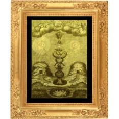 Гравюра из золота Кадуцей Гермеса