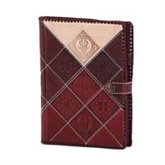 Кожаный ежедневник формата А5 с трехсторонним золотым срезом