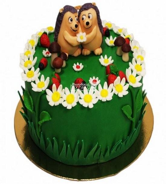 Торт с ежиками