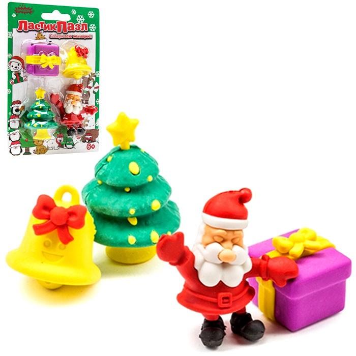 Ластики-пазлы «Дед Мороз»