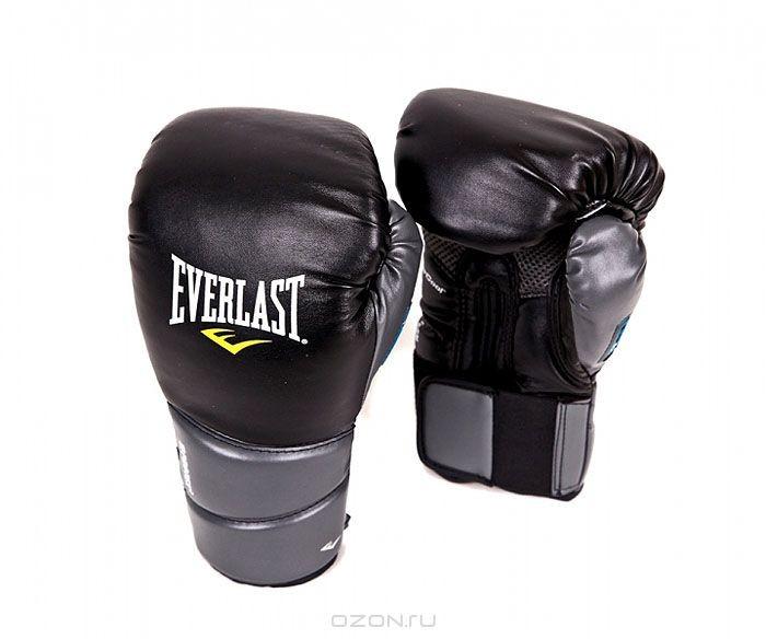 Перчатки тренировочные Everlast Protex2 Training Gloves, черные, серые