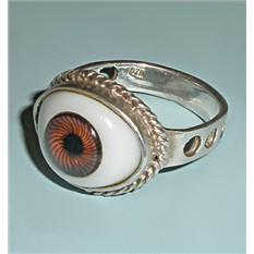 Винтажное кольцо из серебра Карий глаз
