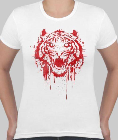 Женская футболка Тигриный оскал