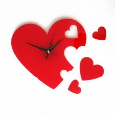 Часы Сердечки