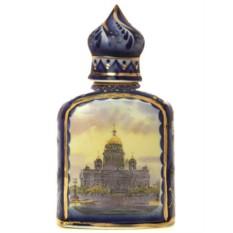 Штоф с росписью Гжель с позолотой Купол Санкт-Петербург