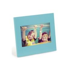 Голубая деревянная фоторамка Simple