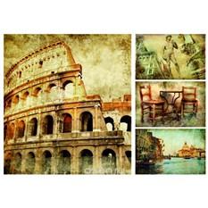 Рисовая карта для декупажа Римские каникулы, формат А3