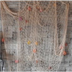 Большая декоративная морская сеть (3х2 метра, белый цвет)