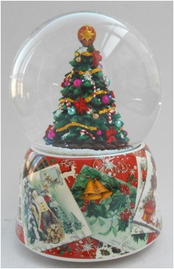 Музыкальный водяной шар Новогодняя елка d=10см