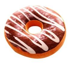 Подушка Шоколадный пончик с глазурью