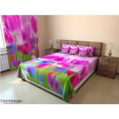 Фотопокрывало Розовые тюльпаны