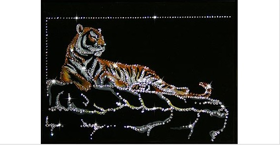Картина с кристаллами Сваровски Тигр Шархан