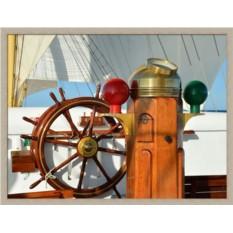 Постер Штурвал и компас