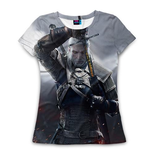 Женская футболка 3D с полной запечаткой Геральт