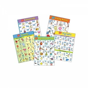 5 Постеров Dr. Seuss Phonics Bulletin Board Set
